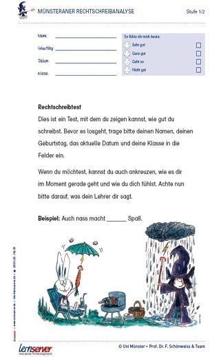Münsteraner Rechtschreibanalyse (regulär)