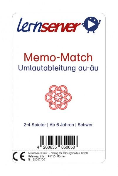 Memo-Match: Umlautableitung au-äu, schwer, ohne Bild