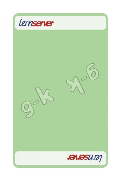 Memo-Match:Auslautableitung g-k, leicht