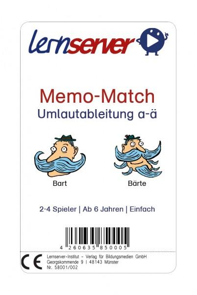 Memo-Match: Umlautableitung a-ä, leicht, mit Bild