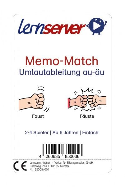 Memo-Match: Umlautableitung au-äu, leicht, mit Bild