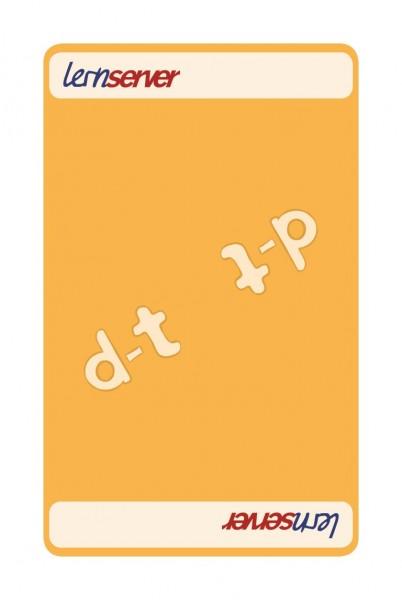 Memo-Match:Auslautableitung d-t, mittel