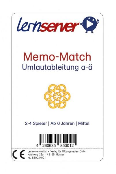 Memo-Match: Umlautableitung a-ä, mittel, ohne Bild